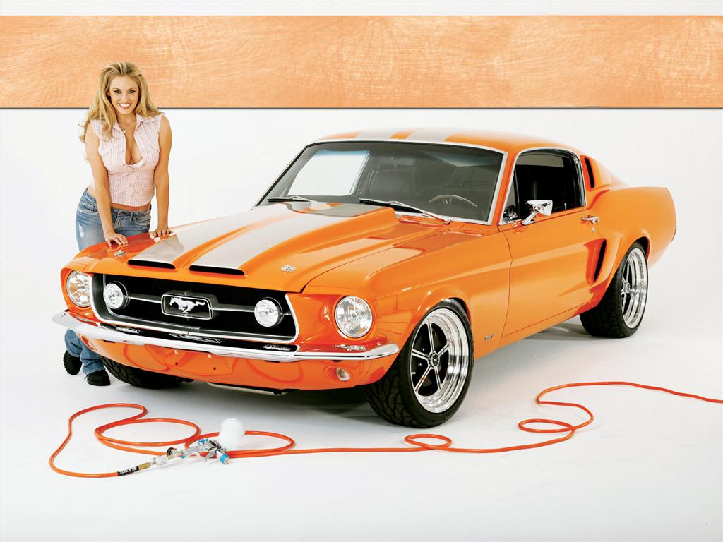 Girl and Dodge - Vintage Classic Cars and Girls