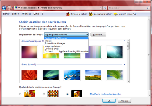 Comment changer de fond d 39 cran sous windows vista - Arriere plan de bureau windows gratuit ...