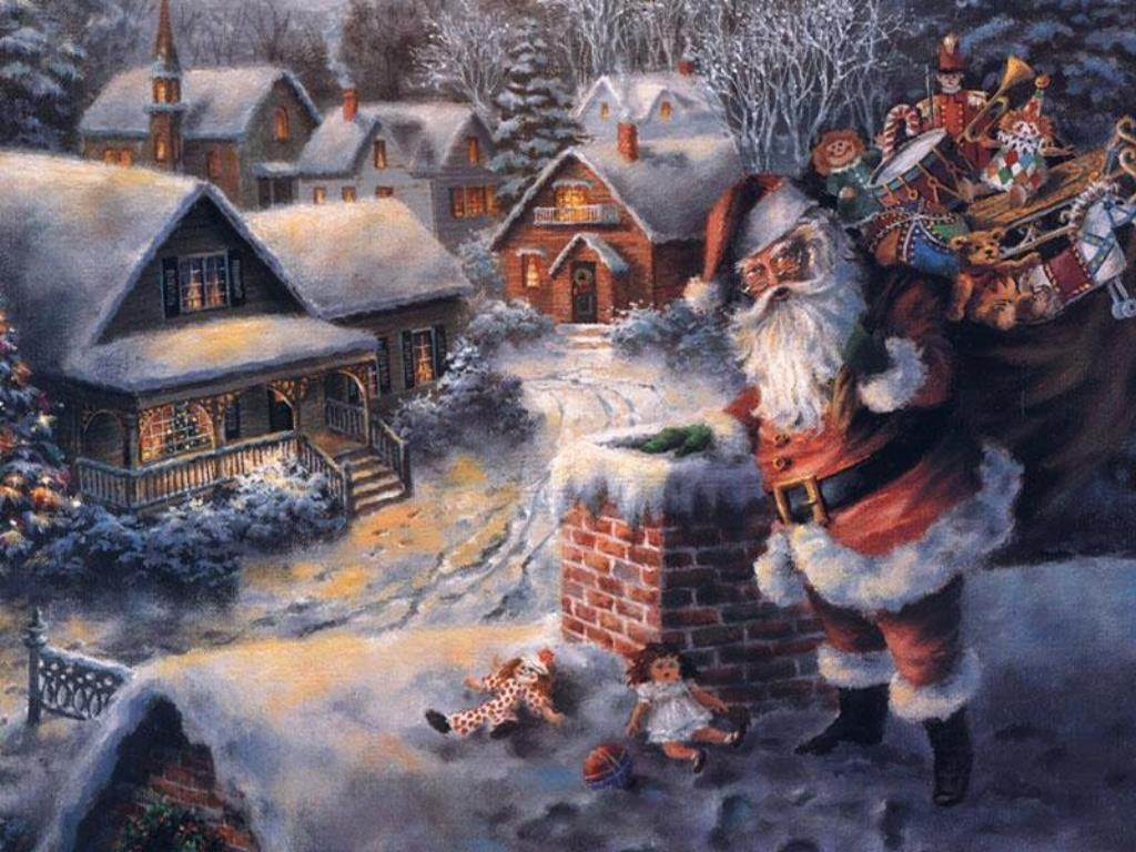 wallpapers noel paysage christmas - photo #17