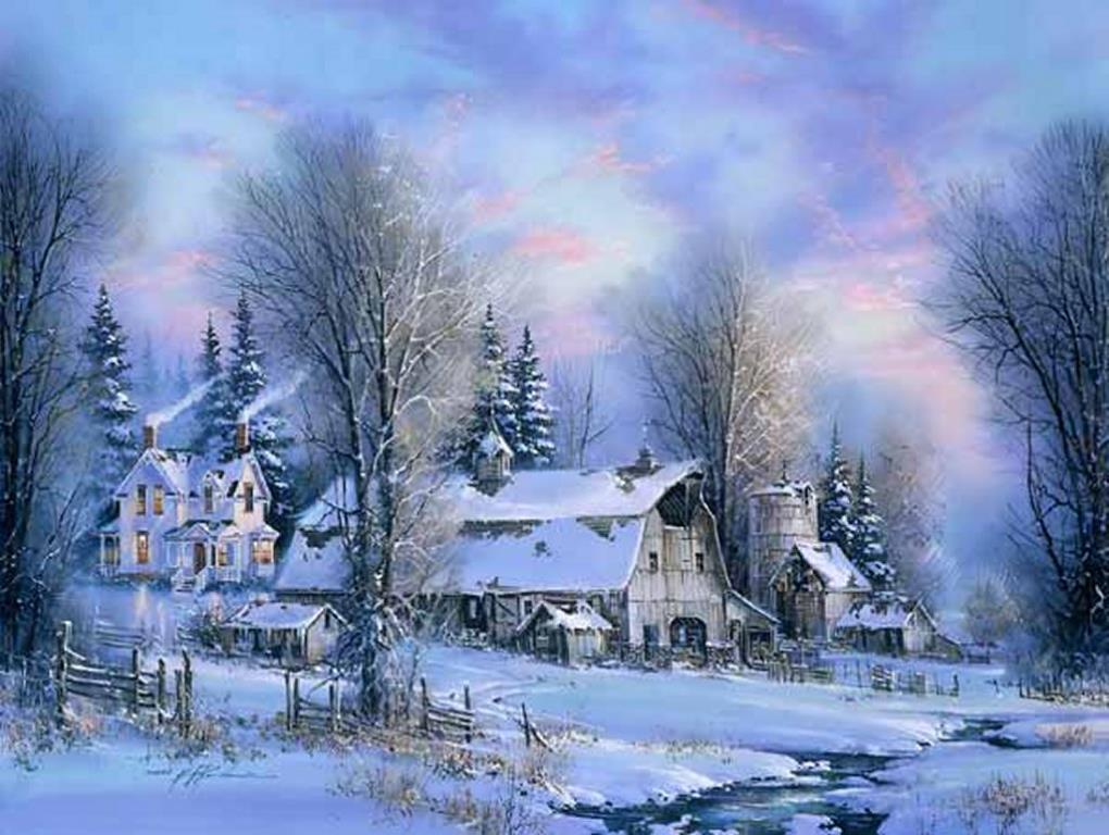 wallpapers noel paysage christmas - photo #12