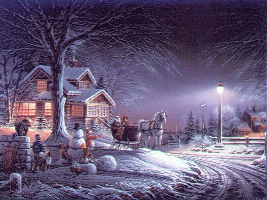 wallpapers noel paysage christmas - photo #15