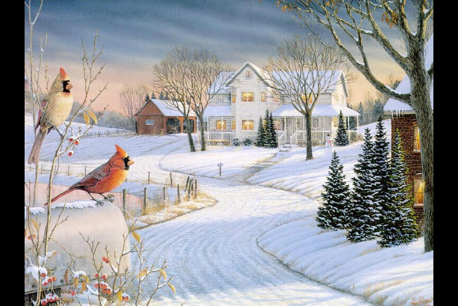 wallpapers noel paysage christmas - photo #20