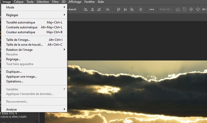 correction automatique avec Photoshop