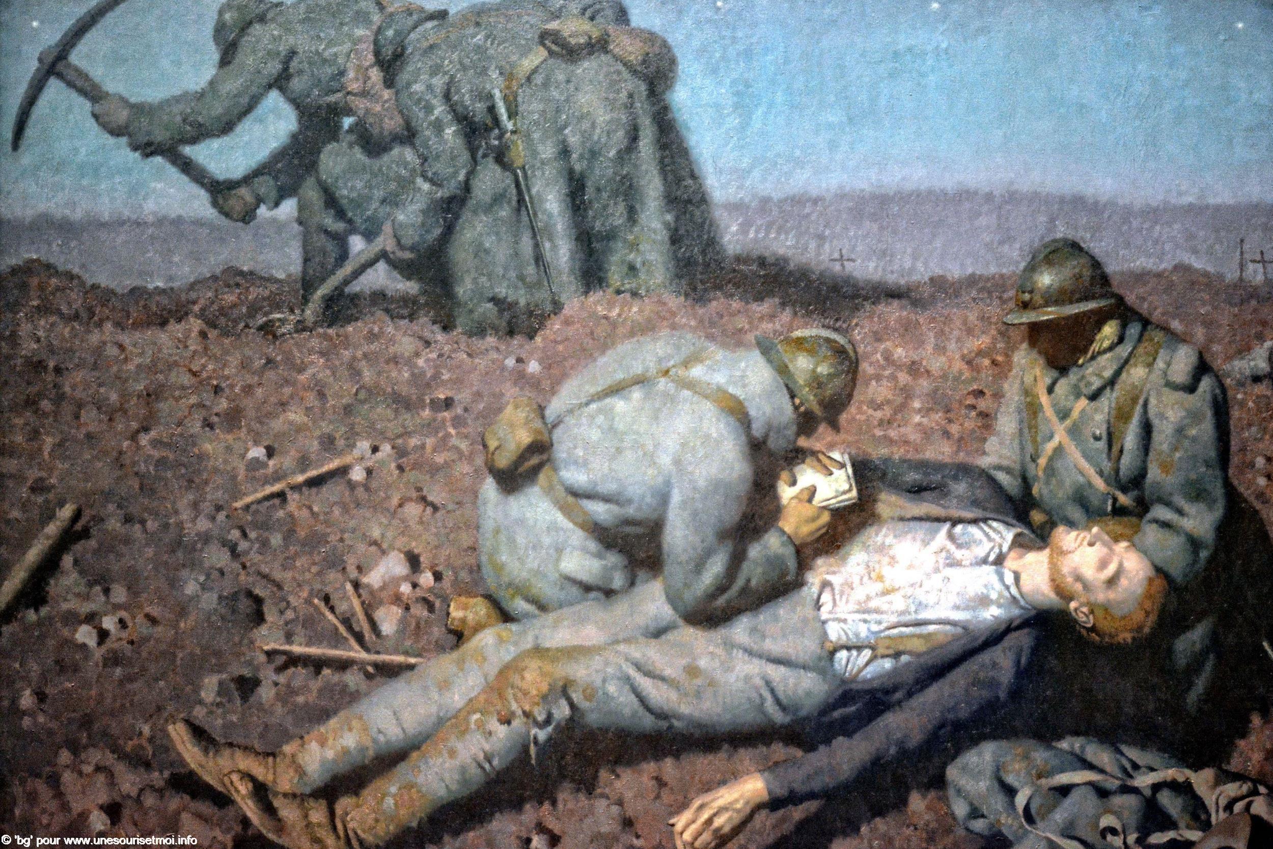 grande-guerre-soldats-enterrant-leurs-camarades-georges-paul-leroux-1939-huile-sur-toile