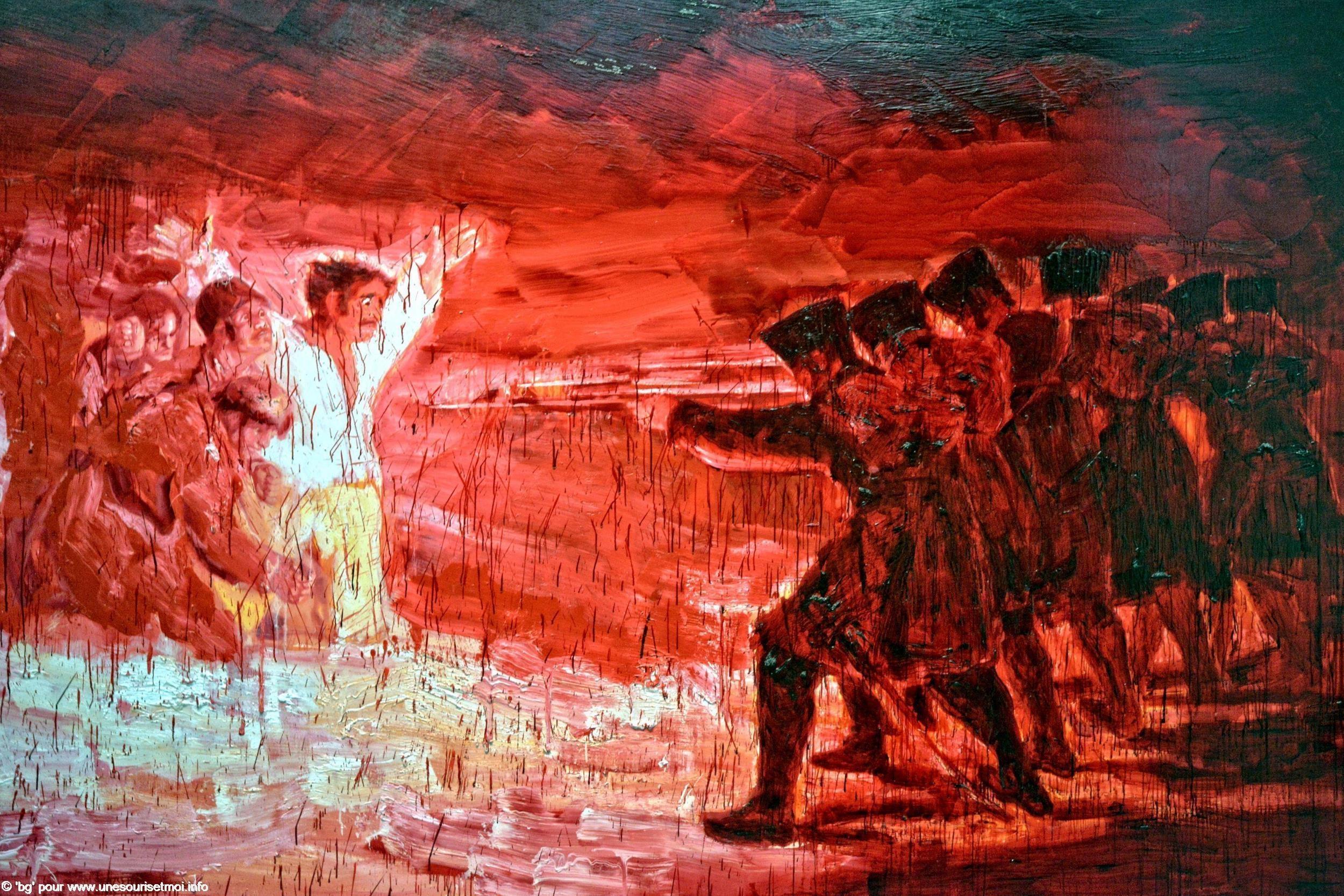 guerres-napoleoniennes-execution-dapres-goya-yan-pei-ming-2006-huile-sur-toile