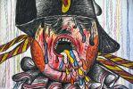 guerres-napoleoniennes-personnage-napoleon-pinchas-burstein-1973-crayon-de-couleur-gras