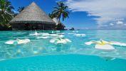 paradisiaque-plage-soleil-fond-ecran