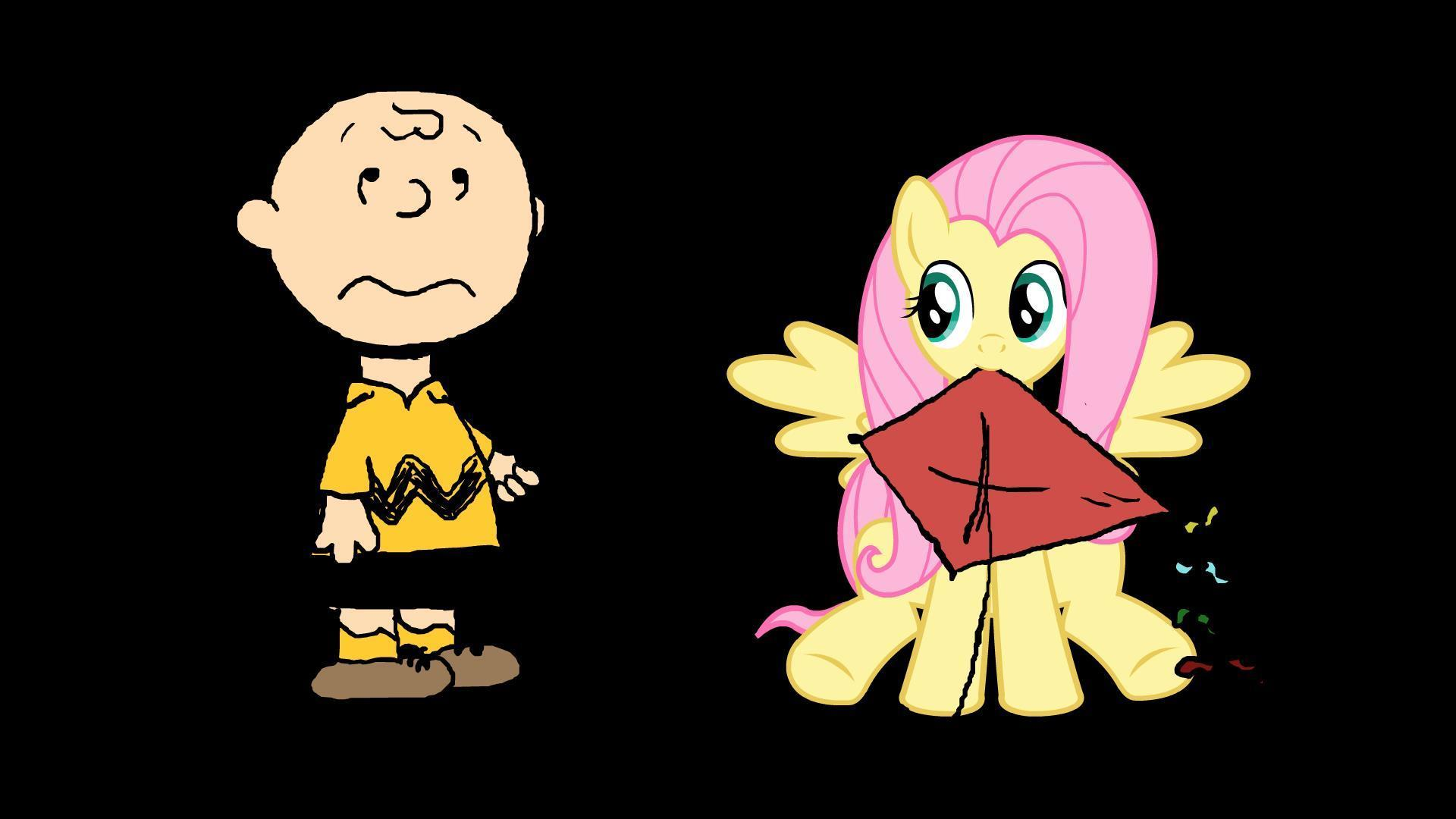 cartoons-charlie-brown-and-fluttershy-wallpaper-HD