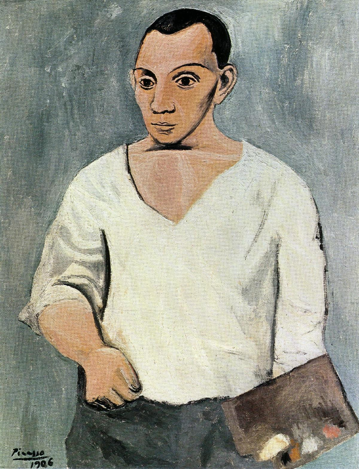 Self-Portrait-with-Palette-(1906)
