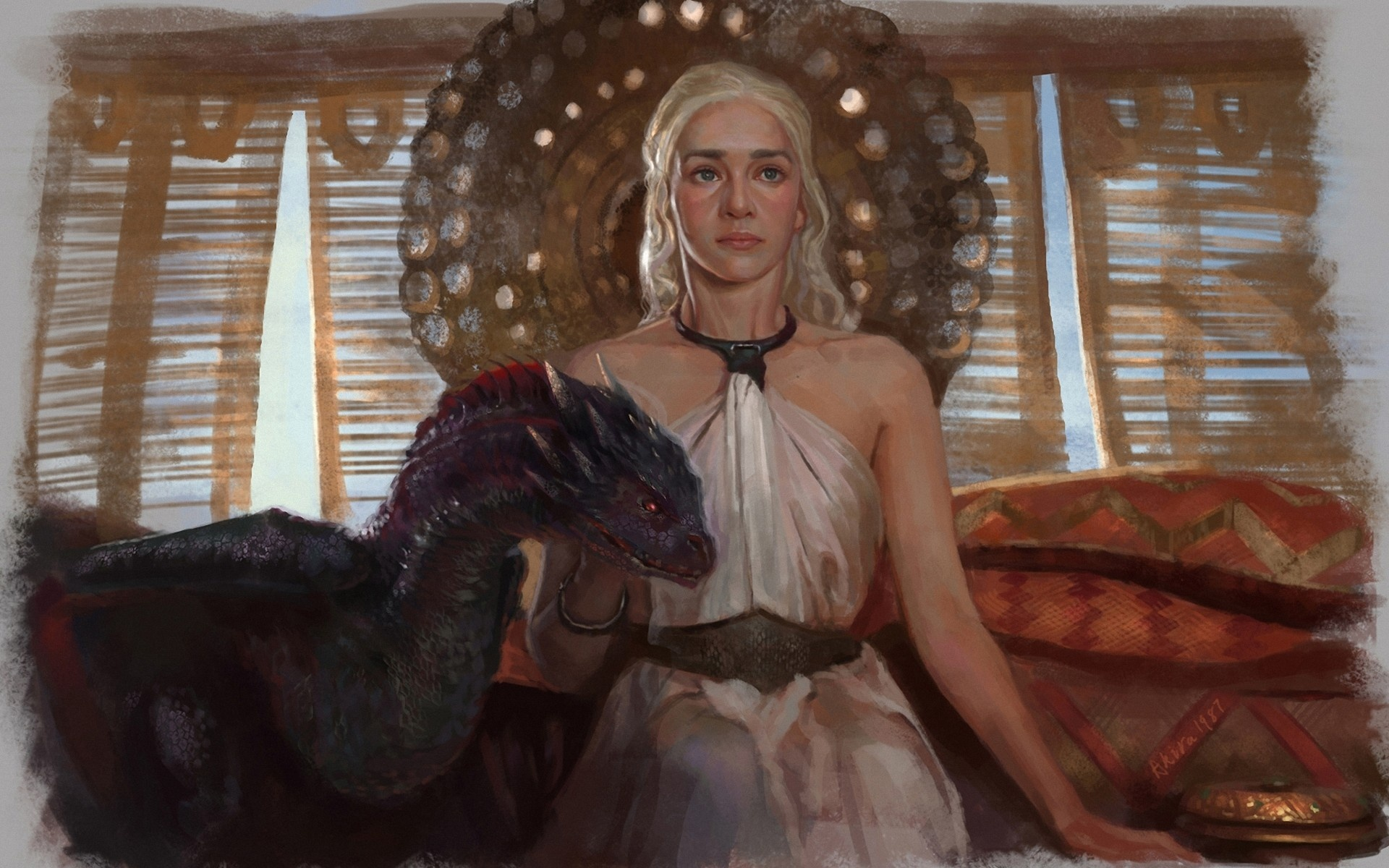Daenerys-Targaryen-personnage-de-Game-of-Thrones-dessin