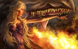 Daenerys-Targaryen-personnage-de-Game-of-Thrones-feu