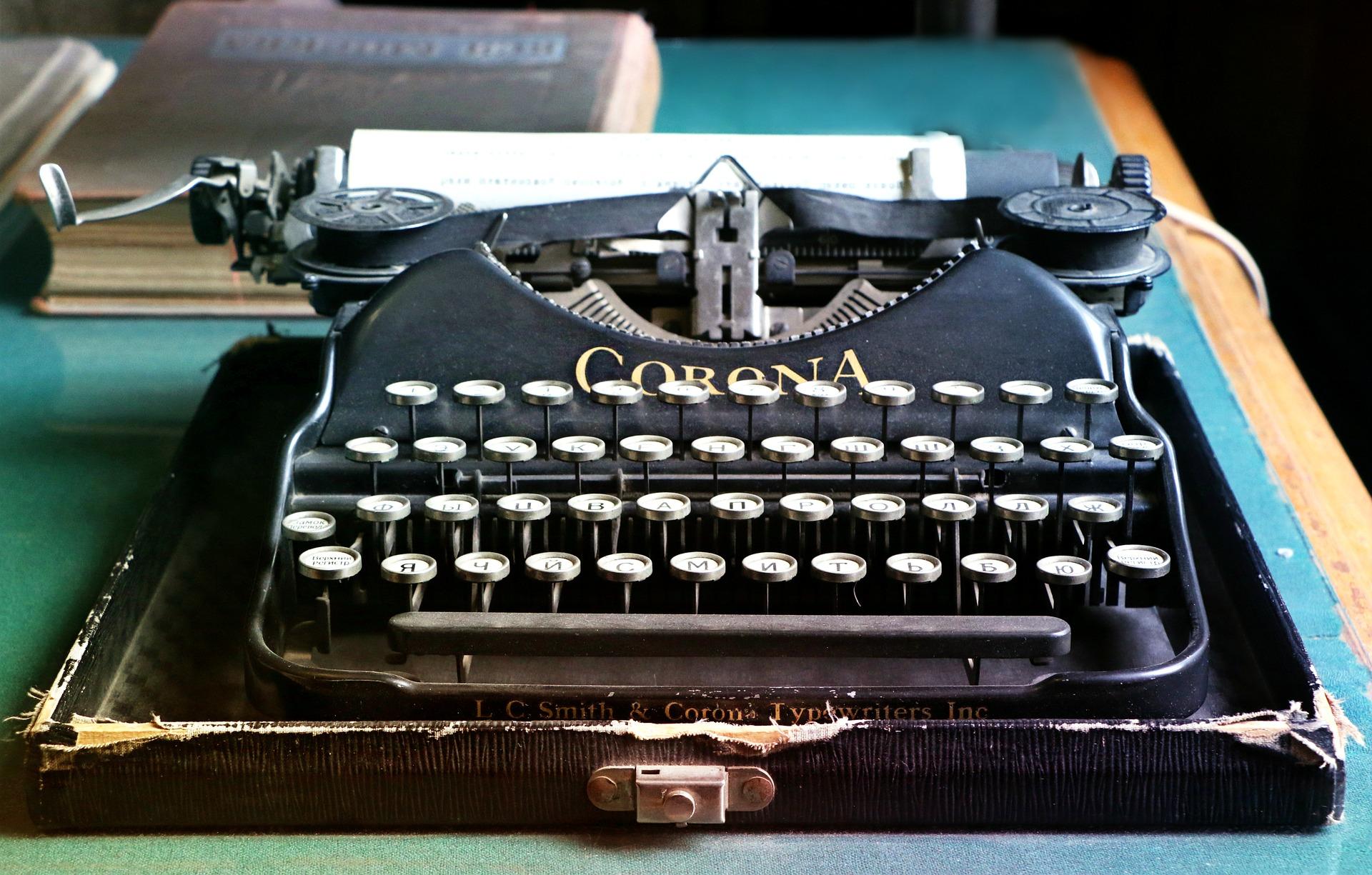 machine-a-ecrire-avec-des-touches