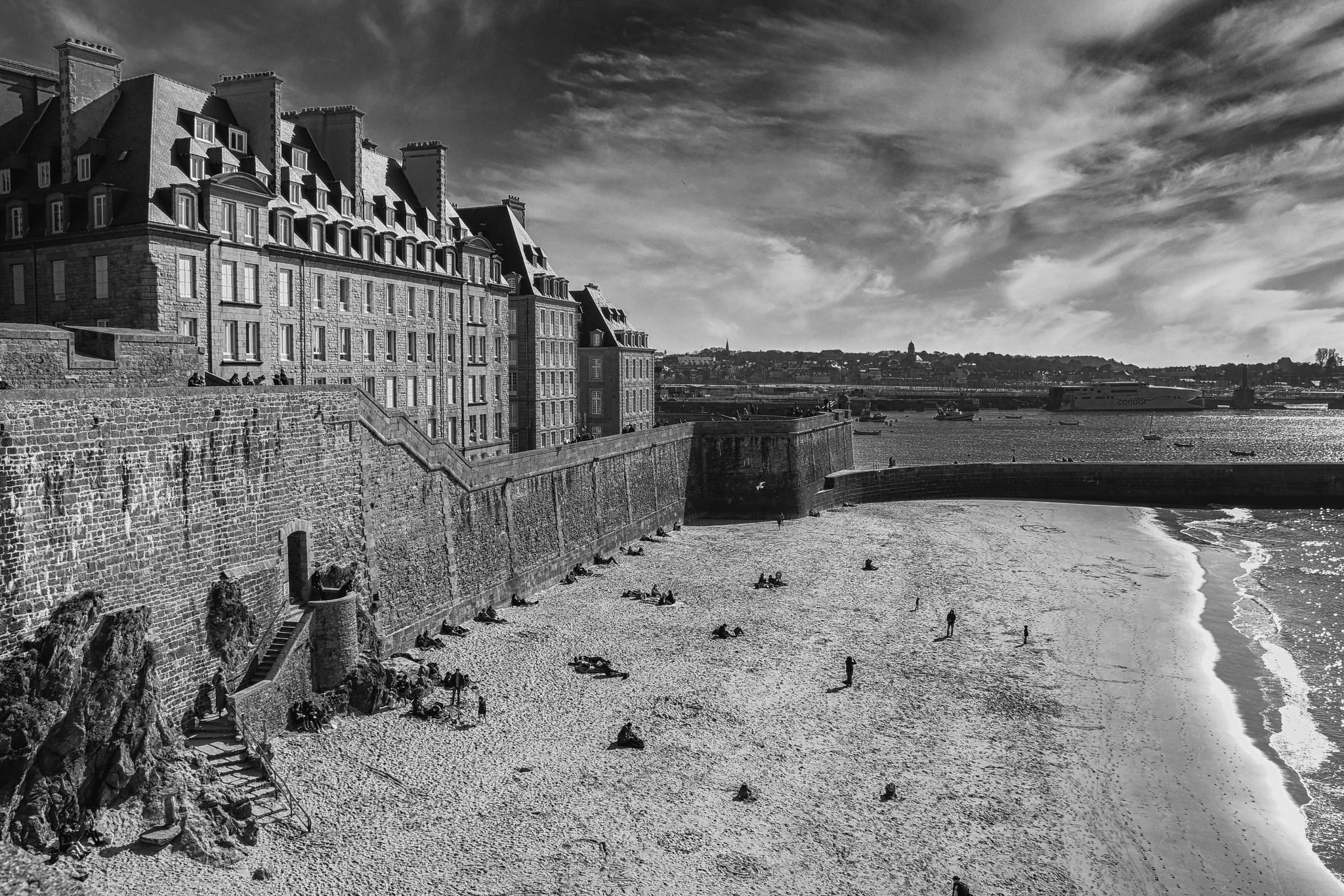 photo-en-noir-et-blanc-la-plage