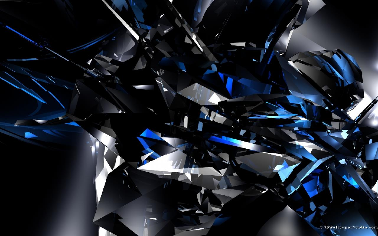 Abstract Wallpaper Black Hearts Blue 3d And Hd Wallpaper: Fonds 3d,wallpapers Free, Fonds D'écran Gratuits